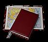Ежедневник Sherwood, не датированный + Атлас, белая бумага, 14,5*20,5, цвет бордо