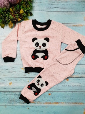 Костюм панда светло-розовый