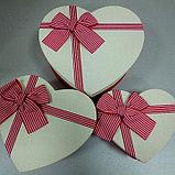 Подарочные коробочки в форме сердца 15*13 см, фото 2