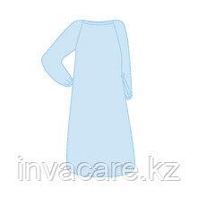 Халат - хирур. 140см на завязках, рукав резинка, горловина завязки, н/стер., СММС 25