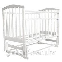 СКВ Кровать детская МИТЕНЬКА (маятник поперечный)164001 белая