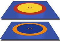 Покрышка для борцовского ковра трехцветный 12м х 12 м (новый образец), фото 1