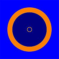 Покрышка для борцовского ковра трехцветный 12м х 12 м