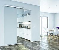 Комплект фурнитры DESIGN 80-M для 1-дверного полотна до 80 кг, с ходовой шиной (алюминий без покрытия) 1100 мм