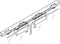 Комплект фурнитуры CLASSIC Synhro для 2-х дверей