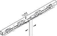 Комплект роликов СИНХРО Silent 40/60/100A для 2-створчатых раздвижных дверей
