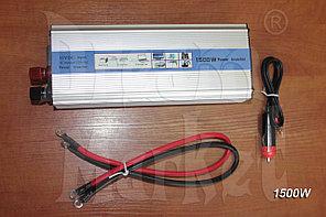 Инвертор автомобильный 12V на 220V 1500W