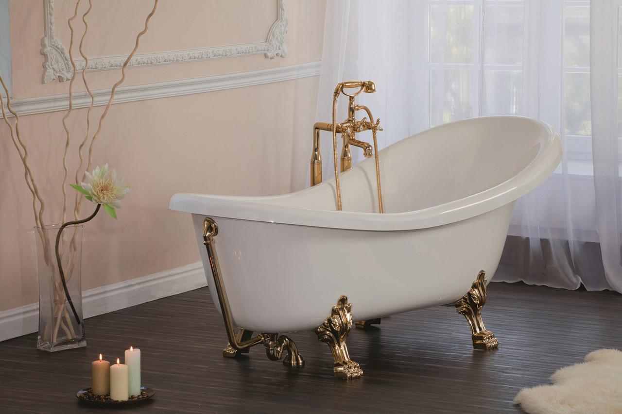 Ванна мрамор Standart 170*70 с фарт. (Черная с блеск) L