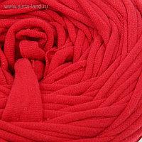 Пряжа трикотажная широкая 50м/170гр, ширина нити 7-8 мм (150 красный мак) МИКС