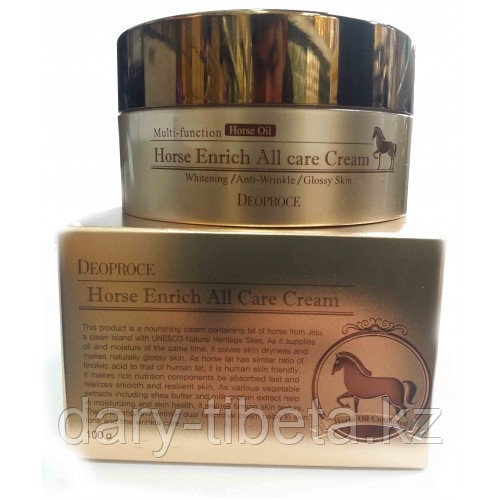 Deoproce Horse Enrich All Care Cream- Интенсивный и питательный крем для лица на основе лошадиного жира