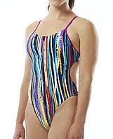 Купальник слитный женский TYR Meraki Cutoutfit цвет 580 100% полиэстер, 34, Новое, 580 Пурпурный/Мульти