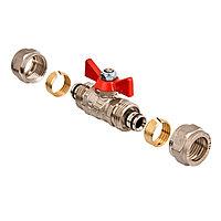 Кран фитинг для металлопластиковых труб - 25