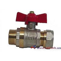 Кран фитинг NTM - 20 *1/2 труба/наружный
