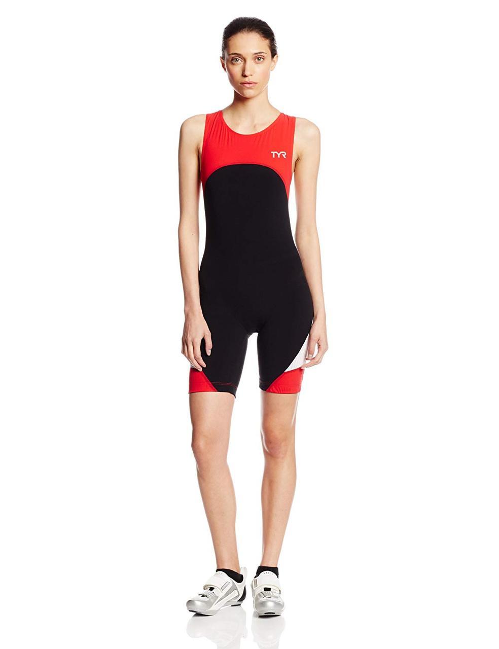 Стартовый костюм без рукавов с молнией сзади TYR Women's Carbon Zipper Back Short John W/Pad