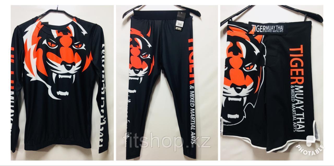 Рашгард Tiger Muay Thai 3 в 1 ( комплект верх + низ + шорты )
