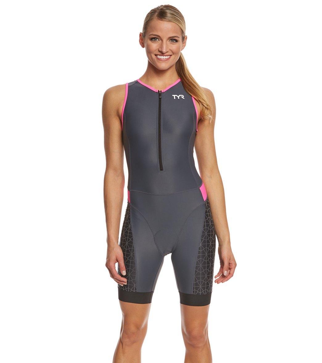 Стартовый костюм без рукавов с молнией спереди TYR Women's Competitor Padded Front Zip Tri Suit