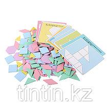 Деревянная геометрическая мозаика - 190 деталей, фото 2