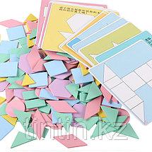 Деревянная геометрическая мозаика - 90 деталей, фото 3