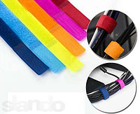 Набор для стяжки проводов на липучке разноцветные 7шт, фото 1