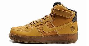 Кроссовки Nike Air Force One Premium коричневые
