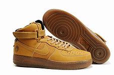 Кроссовки Nike Air Force One Premium коричневые, фото 2