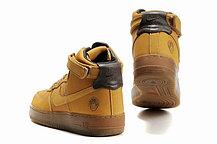 Кроссовки Nike Air Force One Premium коричневые, фото 3