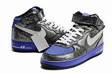 Кроссовки Nike Air Force One Premium графит, фото 3