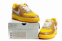 Кроссовки Nike Air Force One Premium золото, фото 3