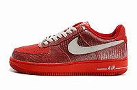 Женские кроссовки Nike Air Force One Premium красные