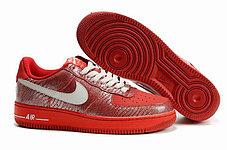 Женские кроссовки Nike Air Force One Premium красные, фото 2