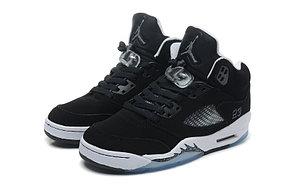 баскетбольные кроссовки Nike Air Jordan 5 Retro черные Акула