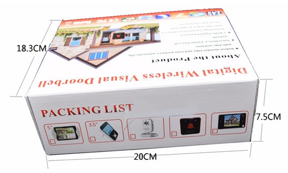 Оба блока видеоглазка помещены в одну упаковку