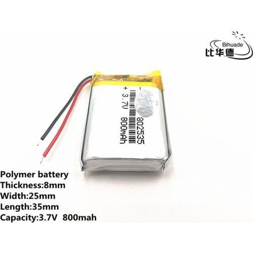 Аккумулятор Li-pol 802535 3.7V 800mAh