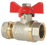 Кран Фитинг для металлопластиковых труб КТМ - 20*1/2 труба/внутренний