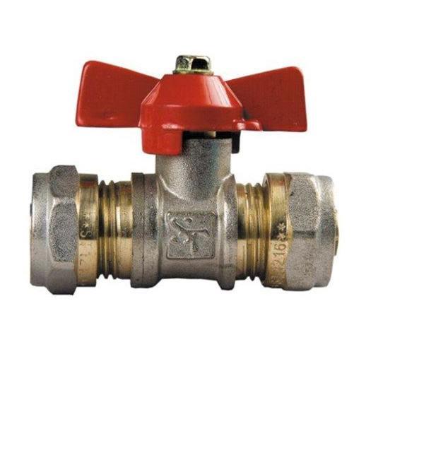 Кран Фитинг для металлопластиковых труб КТМ - 16 *16 труба/труба