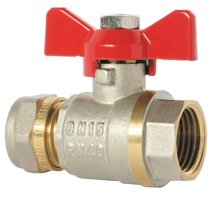 Кран Фитинг для металлопластиковых труб КТМ - 16 *1/2 труба/внутренний