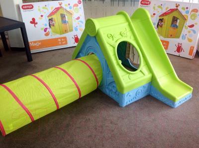 Детский домик с горкой Keter Фунтик бирюзовый