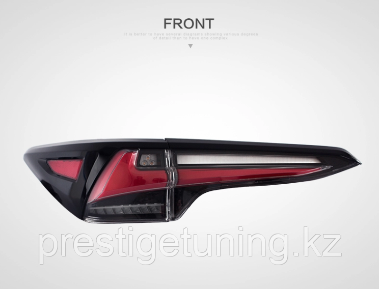 Задние альтернативные фонари на Toyota Fortuner 2016- Type 1