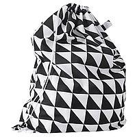 Мешок для белья СНАЙДА белый, черный ИКЕА, IKEA
