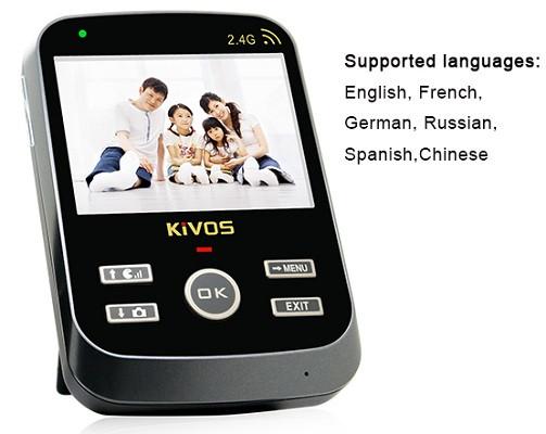 Меню внутреннего блока устройства переведено на 6 языков, включая русский — просто выберите желаемый в настройках!