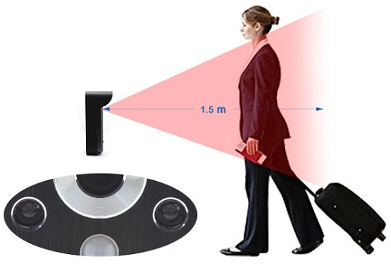 ИК подсветка эффективно действует на расстоянии до полутора метров