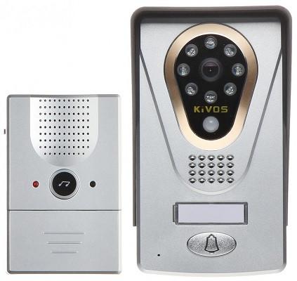 Устройство состоит из двух блоков: основного с камерой и дополнительного беспроводного звонка (нажмите на фото для увеличения)