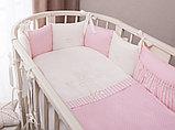 Комплект в кроватку Perina Неженка Oval 7 предметов НО7.3-125х75 Розовый, фото 3