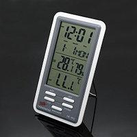 Метеоприбор гигрометр+термометр+часы 5в1. Бесплатная доставка