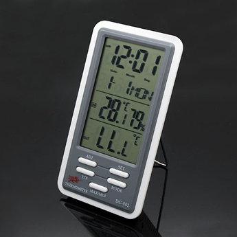 Метеоприбор гигрометр+термометр+часы 7в1. Бесплатная доставка