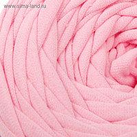 Пряжа трикотажная широкая 50м/160гр, ширина нити 7-9 мм (110 св.розовый) МИКС