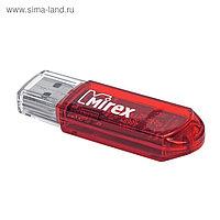 Флешка USB2.0 Mirex ELF RED, 4 Гб, чт до 25 Мб/с, зап до 15 Мб/с, красная