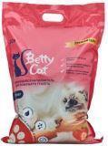 Betty Cat, 5л,  с ароматом клубники Бетти Кэт комкующий наполнитель для кошачьего туалета, 4кг