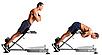 Гиперэкстензия складная для мышц cкамья для спины СВ-2626 до 110 кг., фото 3