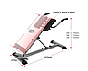 Гиперэкстензия складная для мышц cкамья для спины СВ-2626 до 110 кг., фото 4